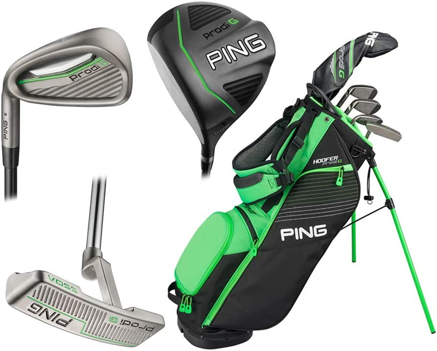 Amazon Com Ping Prodi G Package P Left Hand 5 Clubs And Bag 4 5 4 9 Sports Outdoors