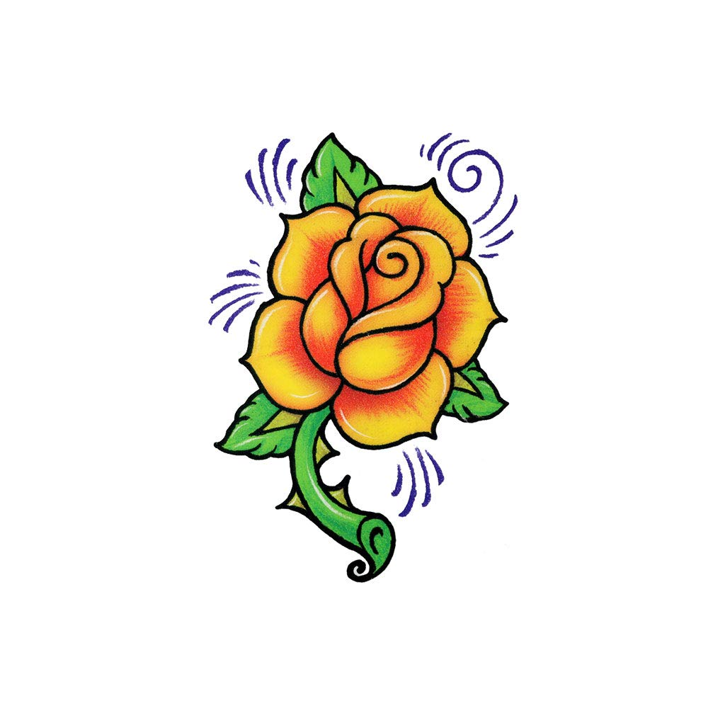 Yellow Rose (3-Pack) | Skin Safe | MADE IN THE USA | Removable