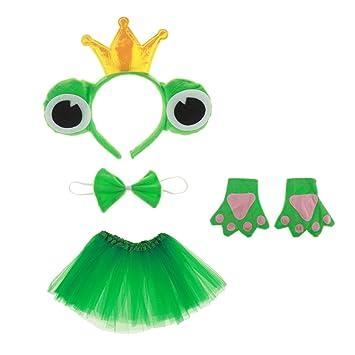 Gazechimp Kinder Froschkonig Kostum Set Haarreif Fliege