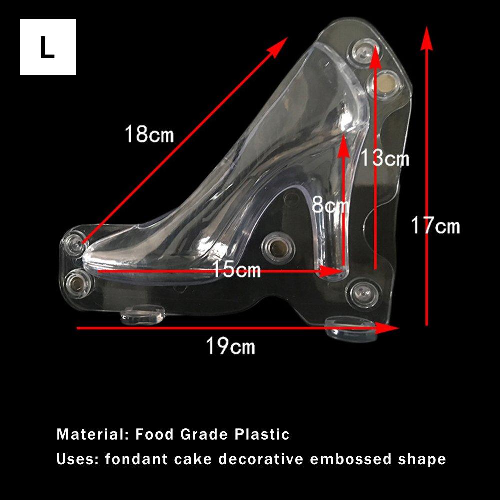 pl/ástico Morado policarbonato para Boda GerTong Fondant 14*13.2cm para Decoraci/ón de Pasta de Az/úcar Molde para Tartas de Chocolate con Tacones Altos en 3D