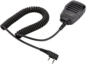 Compact Speaker Mic with Reinforced Cable for Kenwood Radios NX-220 NX-320 TK-2160 TK-2170 TK-2212 TK-2302 TK-2312 TK-2360 TK-2402 TK-3160 TK-3170 TK-3230 TK-3312 TK-3360 TK-3402, Shoulder Microphone