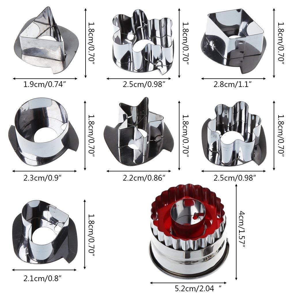 Moule de Biscuit de g/âteau de Pain d/épice dacier Inoxydable de sc/énario 3D Durable et Pratique Ogquaton 7pcs emporte-pi/èce