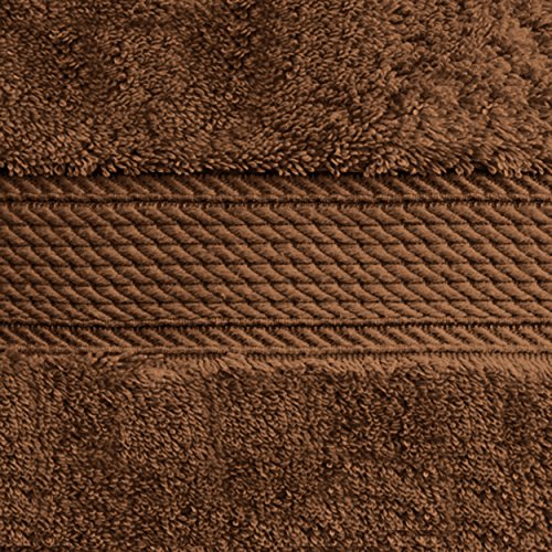 Superior 900 GSM Luxury Bathroom 6-Piece Towel Set, Made 100% Premium Long-Staple Combed Cotton, 2 Hotel & Spa Quality Washcloths, 2 Hand Towels 2 Bath Towels - Chocolate by Superior (Image #3)