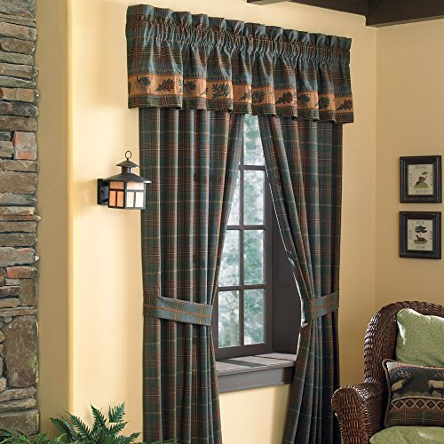 Croscill Caribou Pole Top Window Treatment Drapery, 82 by 84-Inch, Multicolor