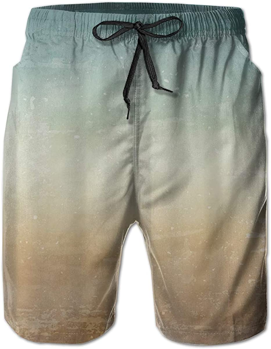 Casual Swimsuit with Pockets Yt92Pl@00 Mens 100/% Polyester Watercolor Background Swim Trunks