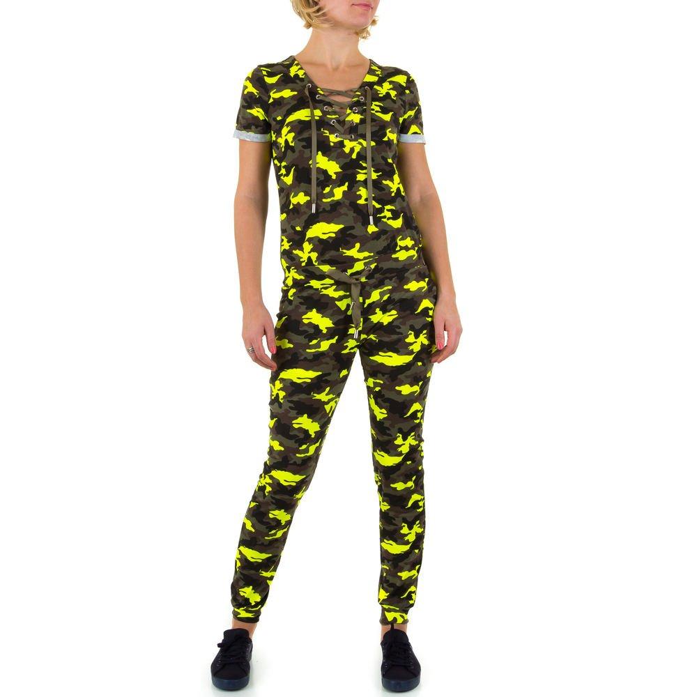 Ital-Design Jumpsuit Camouflage Overall Für Damen