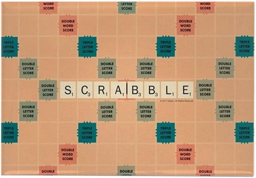 CafePress – Scrabble azulejos – imán rectangular, 5 x 7,6 cm imán para nevera: Amazon.es: Hogar