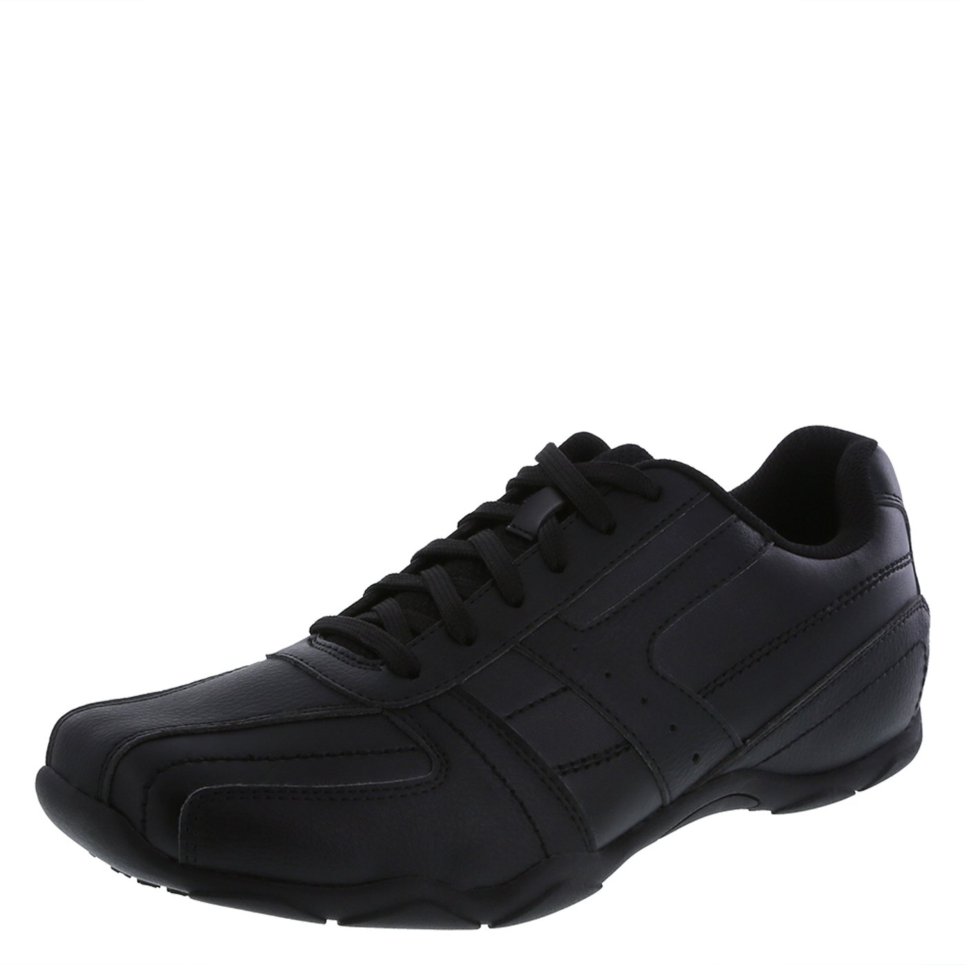 safeTstep Men's Black Slip Resistant Simon Oxfords 11 Regular