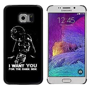 Stuss Case / Funda Carcasa protectora - Dark Side Quote Angel Devil Art Villain Alien - Samsung Galaxy S6 EDGE SM-G925