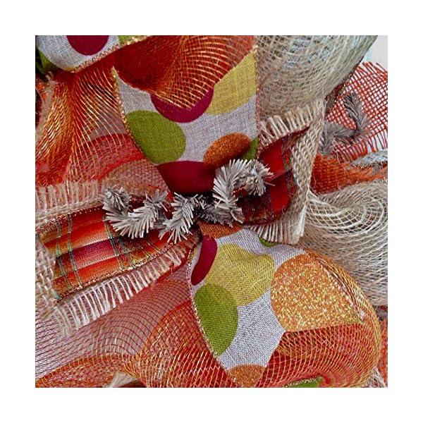 New-Full-Premium-Handmade-Harvest-Deco-Mesh-Ribbon-Wreath-Large-24-Inches