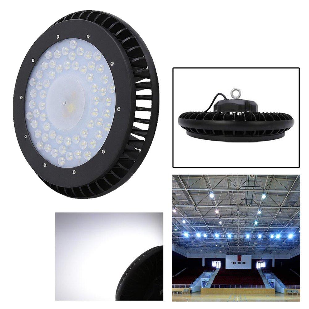 200W LED Hallenstrahler UFO Industrielampe,Kühles Weiß LED Hallenleuchte Deckenleuchte 20000LM Industrial kronleuchter Hallenbeleuchtung Für Werkstatt,Ausstellungshalle,Garagen