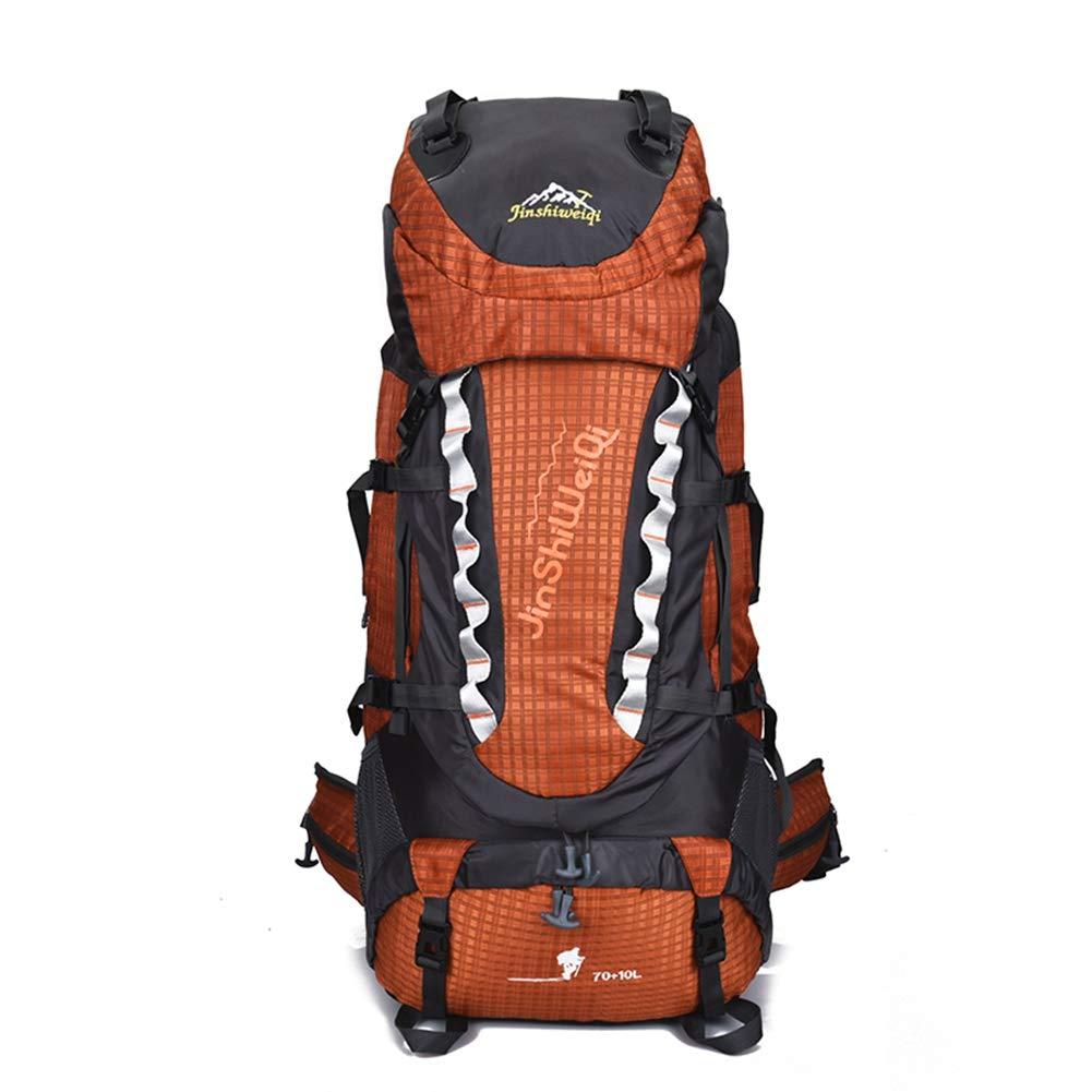AHWZ 80L 登山用バックパック ハイキングバッグ 旅行バッグ キャンピングバッグ ブラケット バックパック 大容量 アウトドアスポーツバックパック  オレンジ B07J1Y9RQS