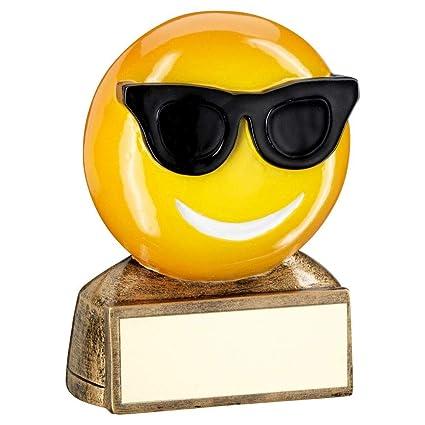 Amazon.com: Trofeo de solapa con diseño de gafas de sol ...