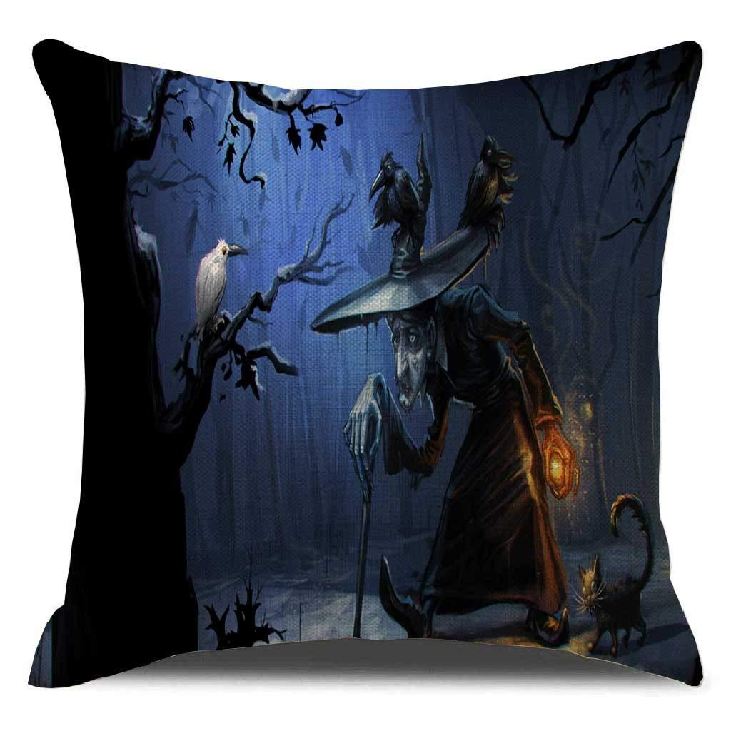 Fundas de almohada de calabaza para Halloween, 18.0 x 18.0 ...
