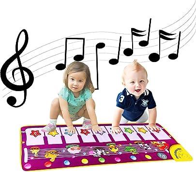 ALITREND Alfombrillas Musicales para Piano para Bebés, Alfombrilla de Baile con Música Electrónica Alfombra de Juego con Teclado de Animales Manta de ...