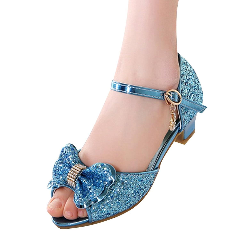 28383499f88f8 Amur Leopard Kids Girls Mary Jane Shoes Bowknot Sequins Dance Wedding  Princess Shoes(Little Kid
