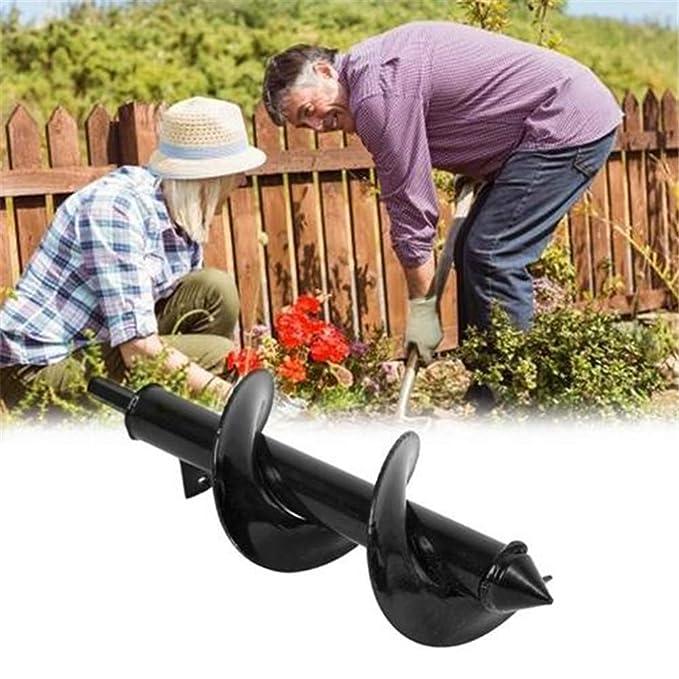 Meetforyou Cultivador de jardín , 25 8CM / 30 8CM , Taladro Manual Augger Digger , Cultivo Profundo para plantación, árboles, arbustos, bulbos, ...