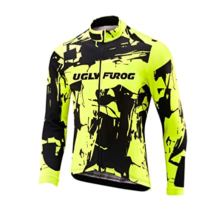 Uglyfrog Maillot Ciclismo Invierno Hombre Bicicleta Conjunto de Jersey de Manga Corta/Larga Top y Culotte Pantalones Acolchado 3D Térmico Respirable ...