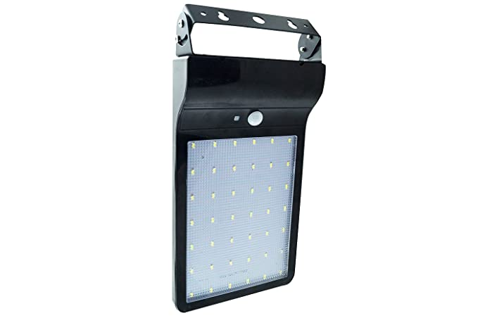 Plafoniere Da Esterno Solari : Faretto plafoniera pannello solare integrato 42 led sensore pir luce