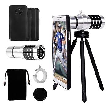 Yarrashop 18X Telephoto Lens for Samsung Telescope Camera Lens Kit with 18x Aluminum Lens +Tripod Hard Case Cleaning Cloth for Samsung Galaxy S7 Edge//S6 Edge//S7//S6 Velvet Bag