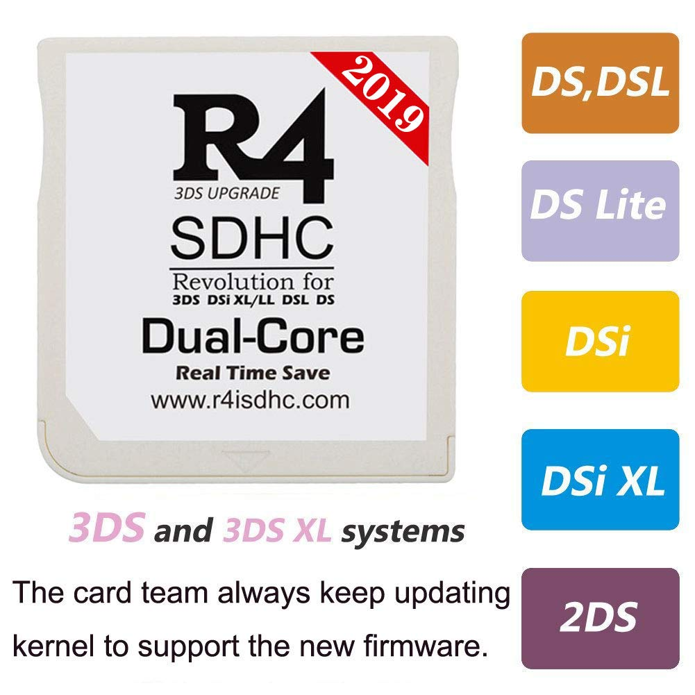 2019 White SDHC+ 32G SD with Card Reader for 3DS/ 3DSXL/ 2DS/ NEW2DSXL/  NEW3DS/ NEW3DSXL/ NDS/NDSL/NDSI/NDSIXL