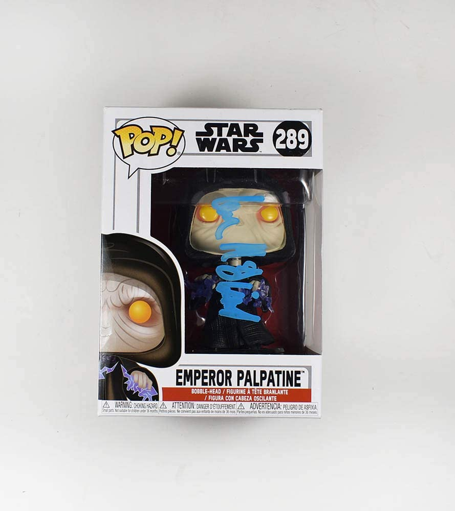 Amazon Com Ian Mcdiarmid Emperor Palpatine Star Wars Last Jedi Rise Of Skywalker 289 Autographed Signed Funko Pop Certified Authentic Coa Entertainment Collectibles