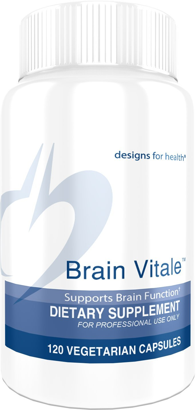 Designs for Health - Brain Vitale - Cognition, Mood, & Memory Support with Phospholipids + Ginkgo, 120 Capsules