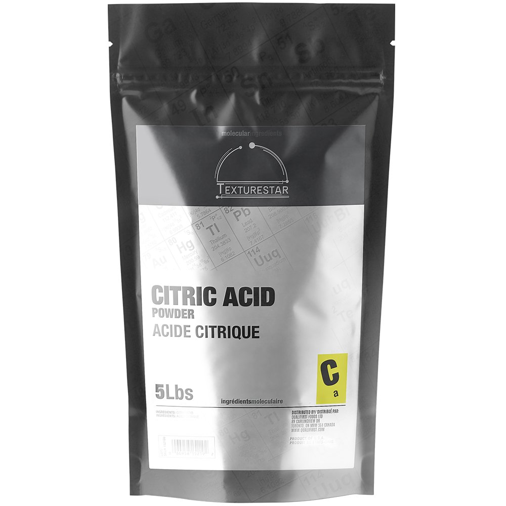 Texturestar Citric Acid Powder - 5 lb (2.27 Kg) - 100% Food Grade