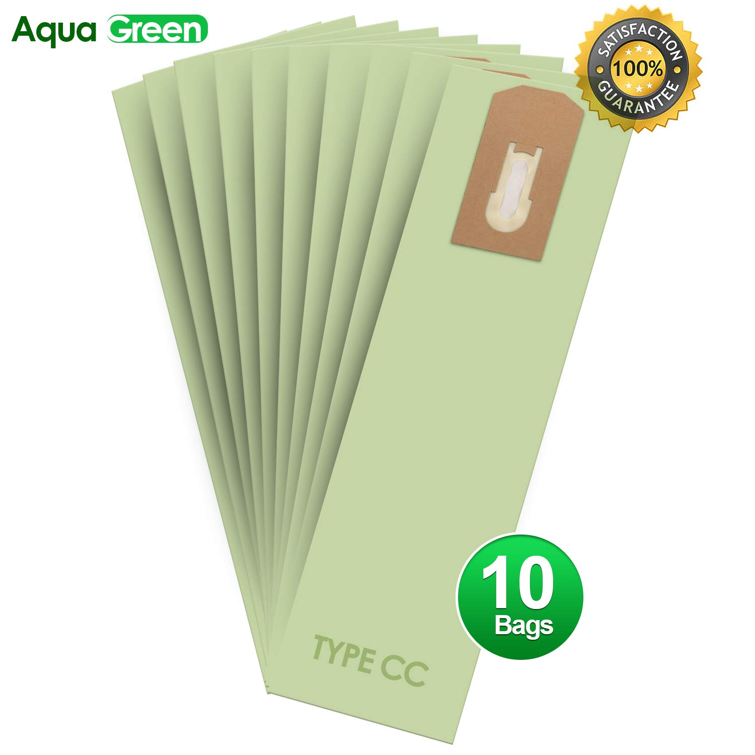 ArtMuseKitsMikash Aqua Green Replacement for Oreck XL Type CC Upright Vacuum Cleaner Bags - Oreck Part # CCPK8DW (10 Pack)