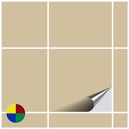FoLIESEN – Adesivi per Piastrelle per Cucina e Bagno – Beige Opaco – 20 x  20 cm – Confezione da 10 Pezzi.