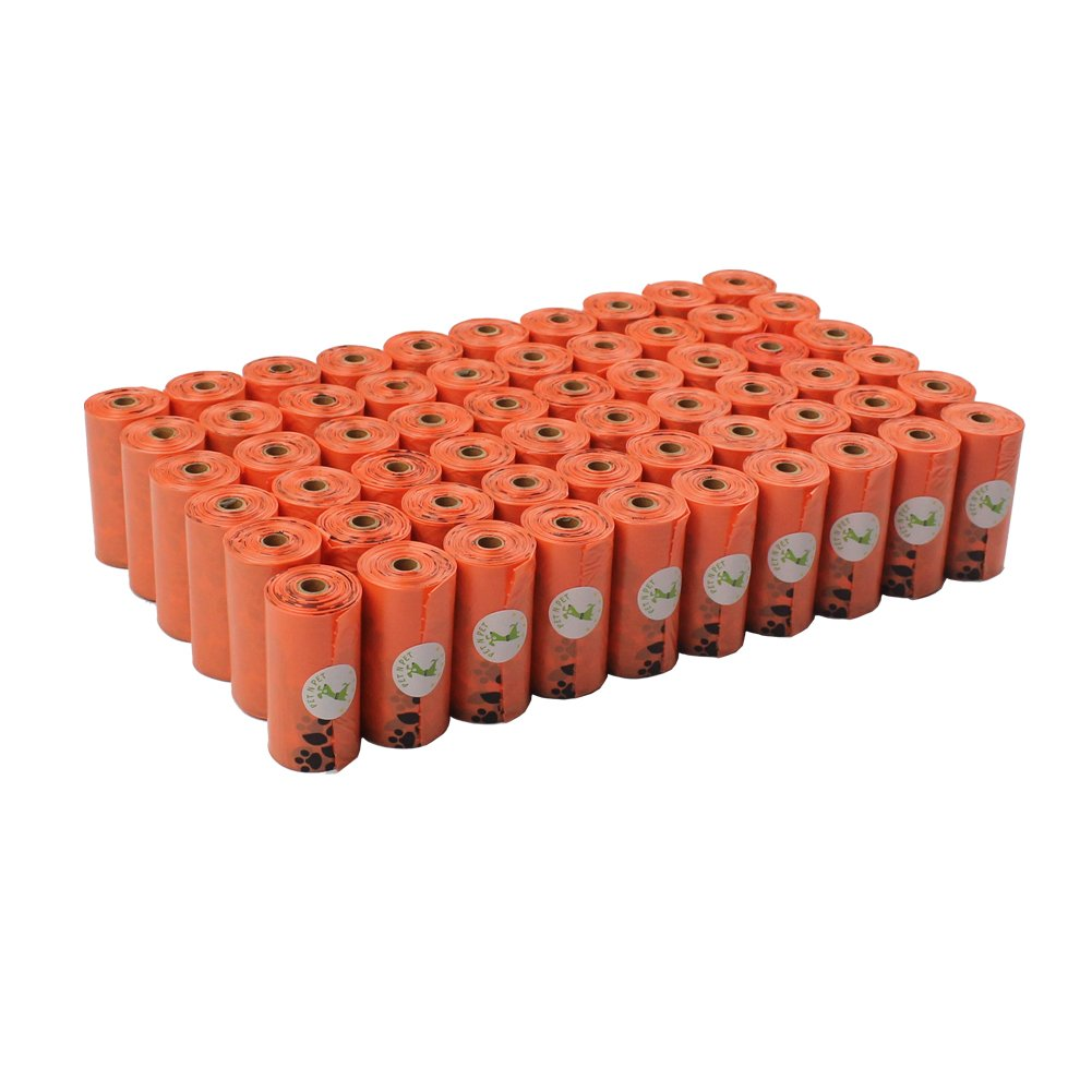 PET N PET 1080 Counts Poop Bags Dog Waste Bags Earth-Friendly Large Orange Unscented 60 Rolls (Refill Bags)