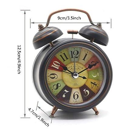Amazon.com: Vintage Alarm Clock, Silent Desk Alarm Clocks ...