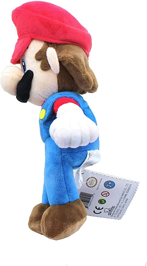 "REAL  Little Buddy Mario 9.5/""  Plush 1414 Super Mario All Star Collection"