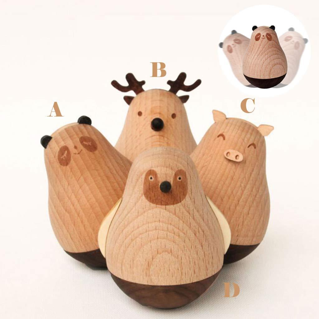 Amazon.com: Juguete de muñeca de madera con diseño de ...