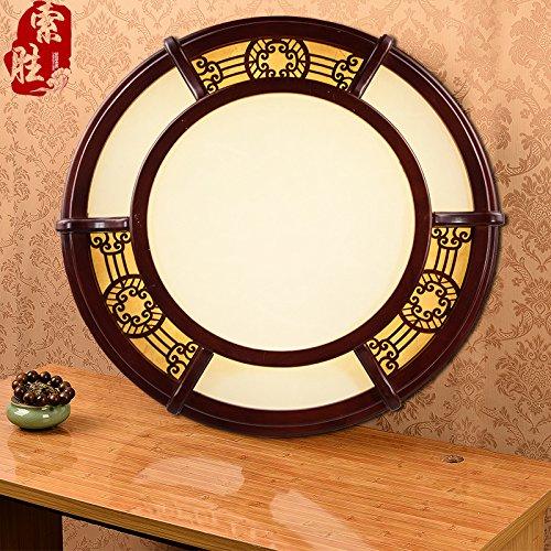 BLYC- Dimmbare klassische solide Holz geschnitzte chinesischen führte Deckenleuchte rund chinesische Lampen Schlafzimmer Wohnzimmer Lampe 580mm