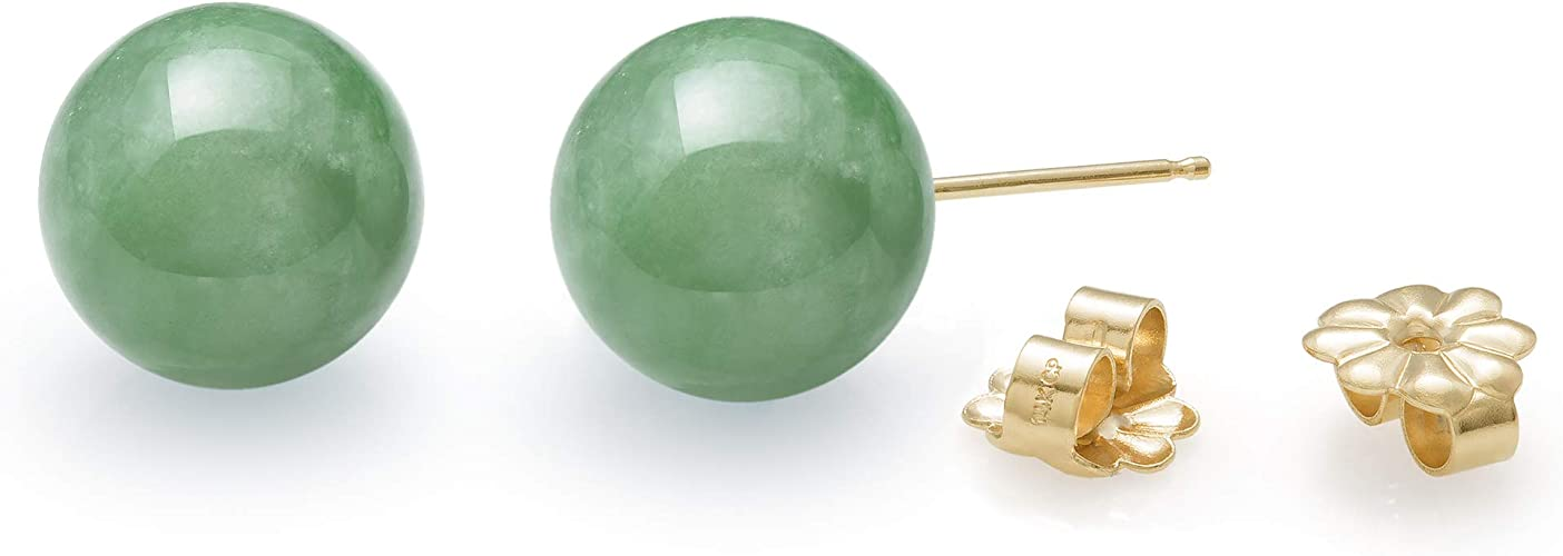 2pcs 10mm Jewelry Natural rose Jade jade  /& Sterling Silver Stud Earrings