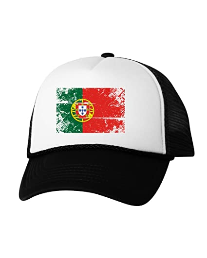 eb549b64a16 Vizor Portugal Flag Hat Portugal Trucker Hat Portugal Hat from Portuguese  Gifts Black One Size