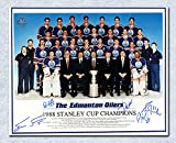 1987-88 Edmonton Oilers Team Autographed Signed Stanley Cup 8x10 Photo 5 Autographs - Autographed Hockey Photos