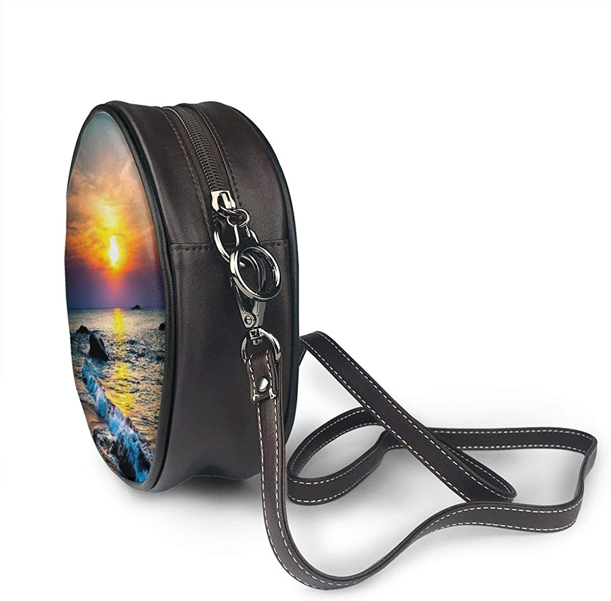 Last Sun Rays Of Over The Sea Waves Printed Women Leather Crossbody Round Bag Girls Cell Phone Purse Handbags Amazon Com 09g/tf60sn, wire harness, large connector. amazon com