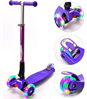 Amazon.com : Moroly kids Scooter with LED Light Up Wheels ...