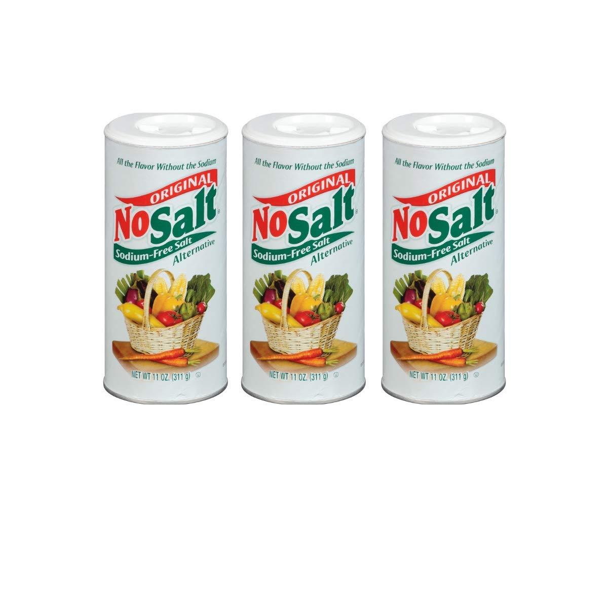 NoSalt Original Sodium-Free Salt Alternative (11oz Canister 3 pack)