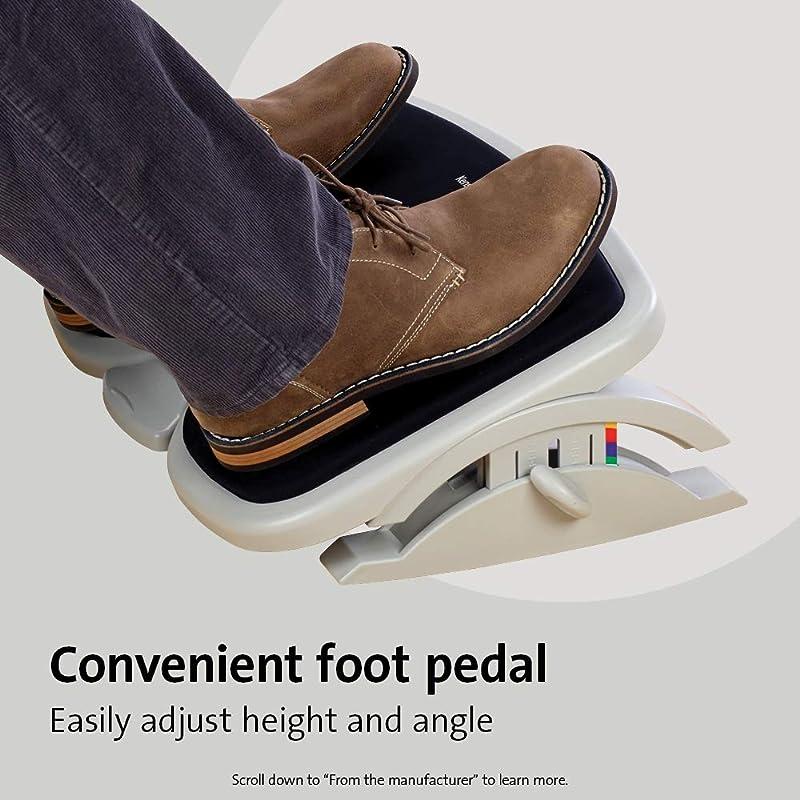 Kensington Comfort Memory Foam Adjustable Footrest (K56144USF),White/Black,Smartfit