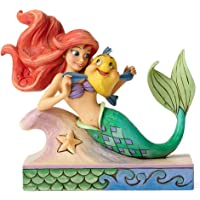 Disney Tradiciones Ariel con Flounder Figura Decorativa