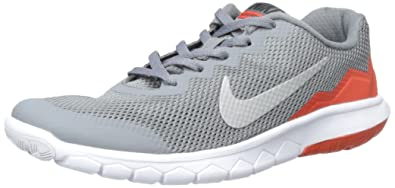 b7c9b4327f20 Nike Girls Flex Experience 4 Gs Running Shoes - Grey  Orange (3.5 M US