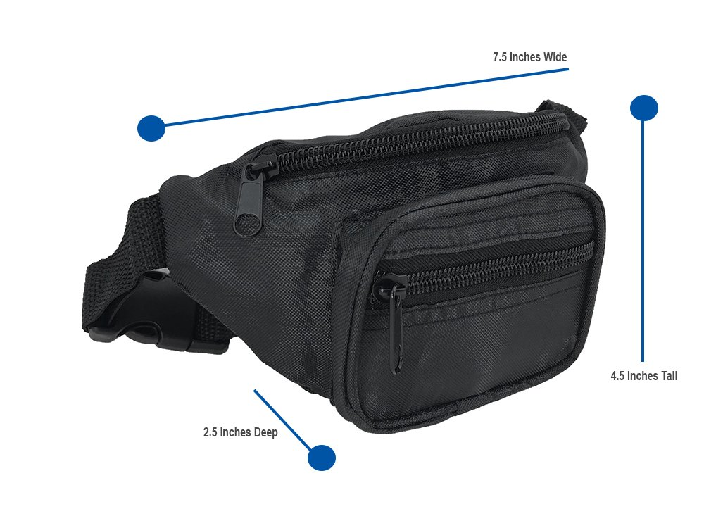 d9ea9040e Amazon.com | Nineteen80something Fanny Pack For Children/Kids Size Waist Bag/For  Boys, Girls, Toddlers And Babies (Black) | Waist Packs