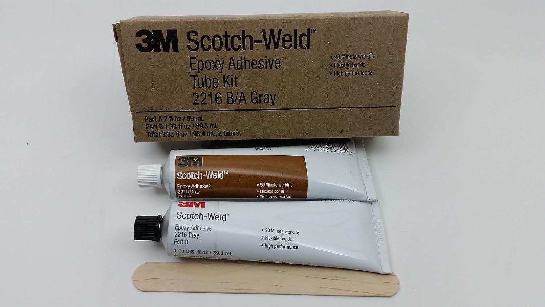 3M Scotch-Weld 2216 Epoxy Adhesive, 2 oz Tube Kit, Gray: Amazon.com:  Industrial & Scientific