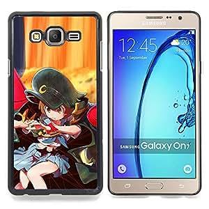 """Qstar Arte & diseño plástico duro Fundas Cover Cubre Hard Case Cover para Samsung Galaxy On7 O7 (Sexy Uniforme Japanese Girl"""")"""