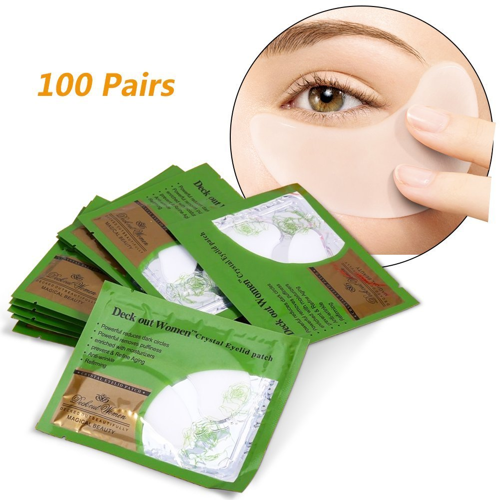 100 Pairs Collagen Crystal Moisture Eye Mask Anti Wrinkle Lifting Moisture Skin Care Patch Pad Yosoo