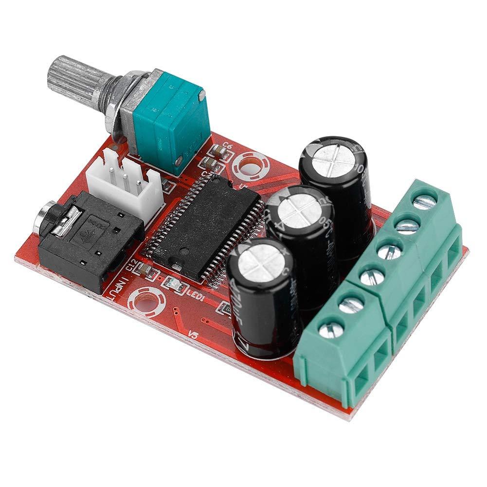 Zerone Tarjeta Amplificador de Potencia Digital de Alta Potencia, Tarjeta Amplificador Estéreo Digital de Doble Canal módulo de Clase D 12W X 2 Tarjeta Amplificador Estéreo Digital de Doble Canal módulo de Clase D 12W X 2