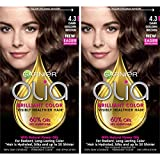 powered Garnier Hair Color Olia Oil Powered Permanent, 4.3 Dark Golden Brown, 2 Count